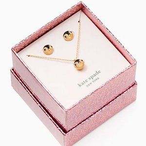 NWT Kate Spade Penguin Boxed Set Necklace Earrings
